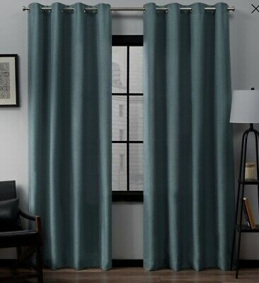 Exclusive Home Loha Black Pearl Grommet Curtain Panels Pair Intended For Sugar Creek Grommet Top Loha Linen Window Curtain Panel Pairs (View 10 of 50)