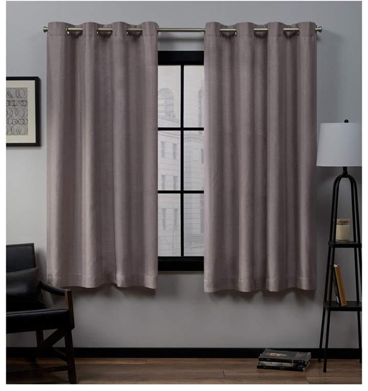 """Exclusive Home Loha Linen Grommet Top Window 54"""" X 63"""" Curtain Panel Pair With Regard To Baroque Linen Grommet Top Curtain Panel Pairs (View 27 of 48)"""
