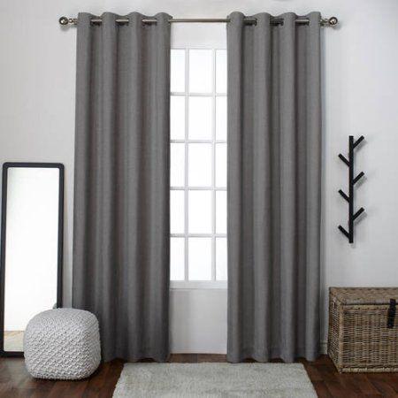 Popular Photo of Sugar Creek Grommet Top Loha Linen Window Curtain Panel Pairs