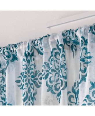 Exclusive Home Nagano Medallion Belgian Sheer Linen Rod For Belgian Sheer Window Curtain Panel Pairs With Rod Pocket (View 28 of 46)
