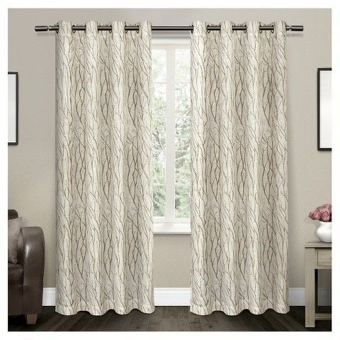 Popular Photo of Oakdale Textured Linen Sheer Grommet Top Curtain Panel Pairs