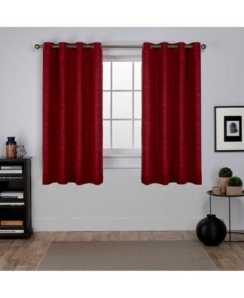 Exclusive Home Oxford Textured Sateen Woven Blackout Grommet For Oxford Sateen Woven Blackout Grommet Top Curtain Panel Pairs (View 7 of 44)