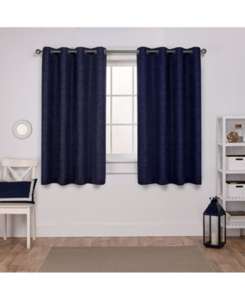 Exclusive Home Oxford Textured Sateen Woven Blackout Grommet Inside Oxford Sateen Woven Blackout Grommet Top Curtain Panel Pairs (View 8 of 44)