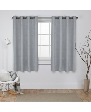 Exclusive Home Oxford Textured Sateen Woven Blackout Grommet Throughout Oxford Sateen Woven Blackout Grommet Top Curtain Panel Pairs (View 10 of 44)