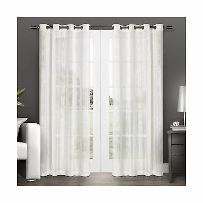 Popular Photo of Penny Sheer Grommet Top Curtain Panel Pairs