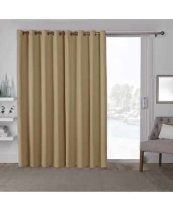 Exclusive Home Sateen Patio Woven Blackout Grommet Top Throughout Patio Grommet Top Single Curtain Panels (#6 of 38)