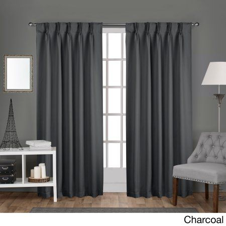 Exclusive Home Sateen Pinch Pleat Woven Blackout Back Tab With Sateen Woven Blackout Curtain Panel Pairs With Pinch Pleat Top (#9 of 40)