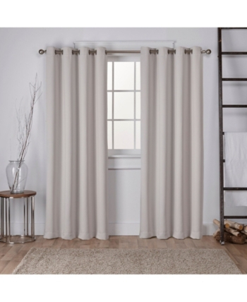 Exclusive Home Sateen Twill Woven Blackout Grommet Top Pertaining To Sugar Creek Grommet Top Loha Linen Window Curtain Panel Pairs (View 8 of 50)