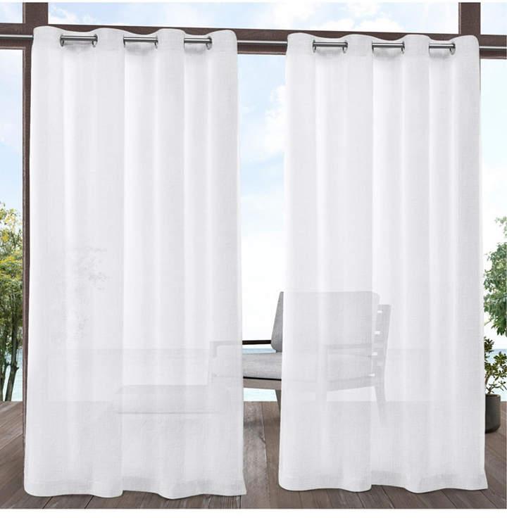 Exclusive Home Tao Indoor Outdoor Sheer Linen Grommet Top Curtain Panel Pair Throughout Oakdale Textured Linen Sheer Grommet Top Curtain Panel Pairs (View 26 of 41)