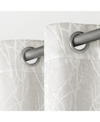 Exclusive Home Twig Insulated Blackout Grommet Top Curtain In Twig Insulated Blackout Curtain Panel Pairs With Grommet Top (#25 of 50)
