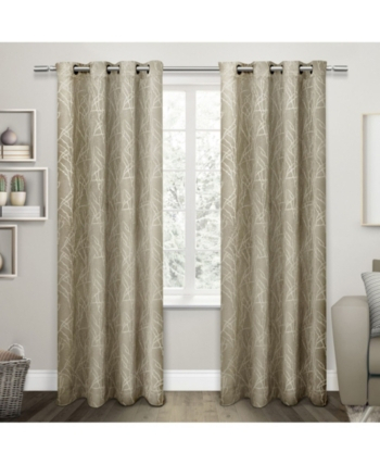 Exclusive Home Twig Insulated Blackout Grommet Top Curtain Within Insulated Grommet Blackout Curtain Panel Pairs (View 25 of 50)