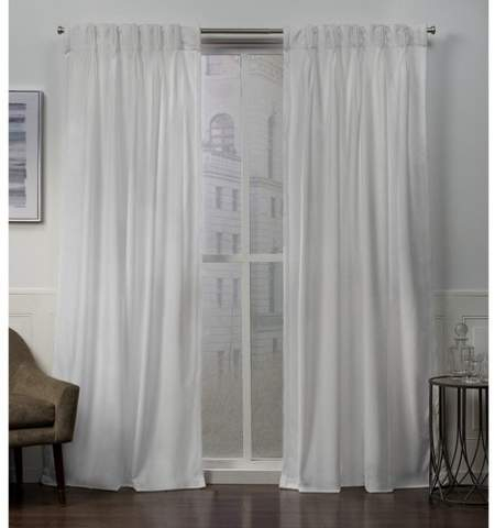 Exclusive Home Velvet Heavyweight Pinch Pleat Top Curtain Panel Pair With Tassels Applique Sheer Rod Pocket Top Curtain Panel Pairs (View 18 of 45)
