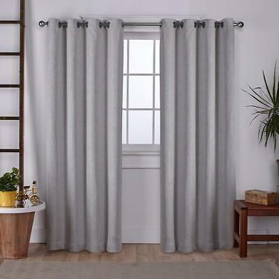 """Exclusive Home  Vesta Woven Blackout Grommet Curtain Panel Pair (52"""" X  108"""") 642472016648 