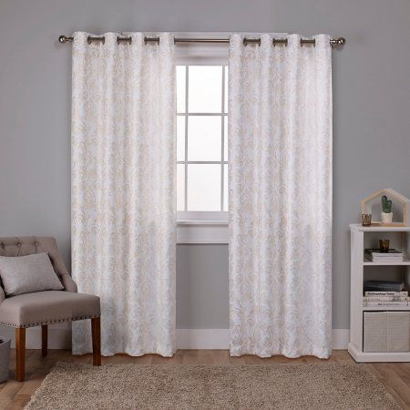 Exclusive Home Watford Distressed Metallic Print Thermal Intended For Softline Trenton Grommet Top Curtain Panels (View 8 of 50)