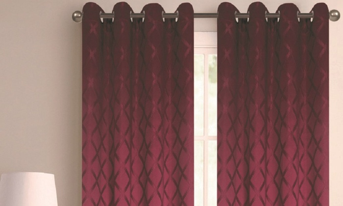 """Extra Wide 110""""x84"""" Blackout Grommet Window Panel Pair With Regard To Silvertone Grommet Thermal Insulated Blackout Curtain Panel Pairs (#18 of 35)"""