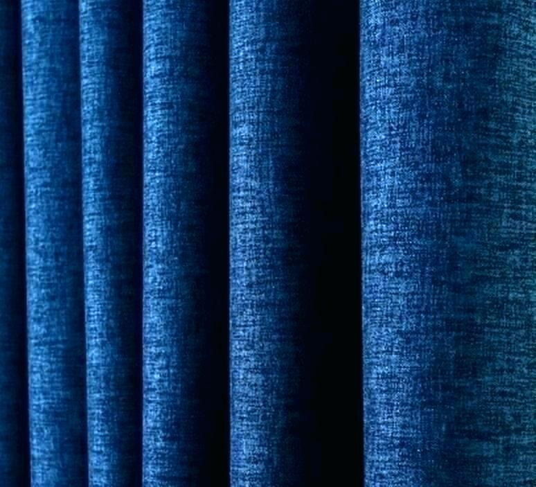 Extra Wide Blackout Curtains Blue Linen Weave 1 Navy For Faux Linen Extra Wide Blackout Curtains (View 21 of 50)