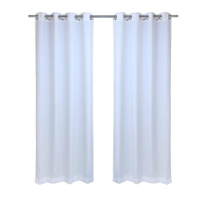 Fairman Solid Semi Sheer Indoor / Outdoor Grommet Single Curtain Panel Pertaining To Indoor/outdoor Solid Cabana Grommet Top Curtain Panel Pairs (#26 of 48)