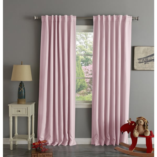 Fancy Pink Eclipse Curtains Decorating With Aurora Home With Regard To Thermal Rod Pocket Blackout Curtain Panel Pairs (#26 of 50)