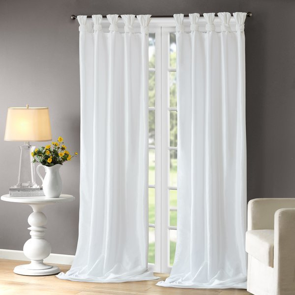 Fantastic Tab Top Sheer Curtains And Lark Manor Rivau Solid With Tab Top Sheer Single Curtain Panels (#16 of 50)