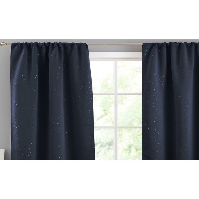 Faul Solid Blackout Thermal Rod Pocket Panel Pair With Regard To Thermal Rod Pocket Blackout Curtain Panel Pairs (#27 of 50)