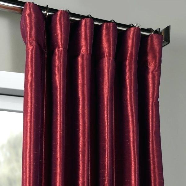 Faux Dupioni Silk Curtains Exclusive Fabrics Mulberry In Vintage Textured Faux Dupioni Silk Curtain Panels (#16 of 50)