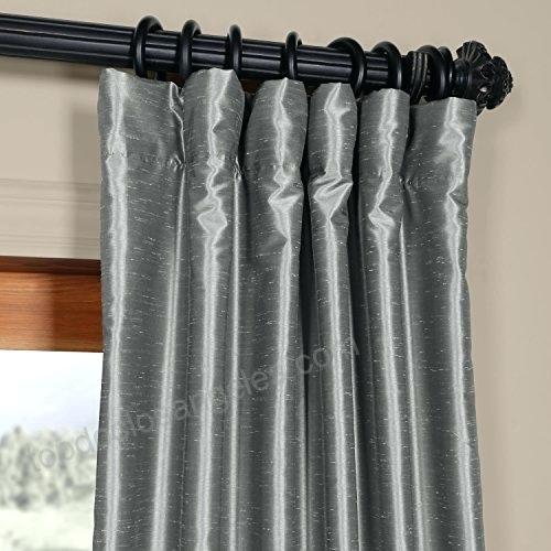 Faux Dupioni Silk Curtains – Martinez Ed For Vintage Textured Faux Dupioni Silk Curtain Panels (#24 of 50)