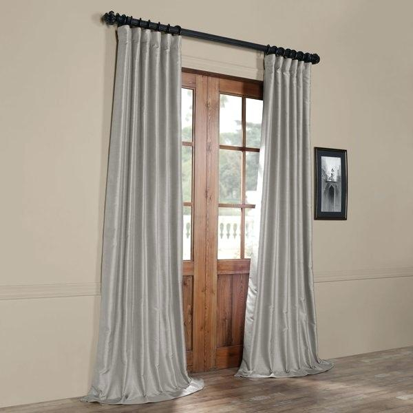 Faux Dupioni Silk Curtains – Martinez Ed Regarding Storm Grey Vintage Faux Textured Dupioni Single Silk Curtain Panels (View 29 of 50)
