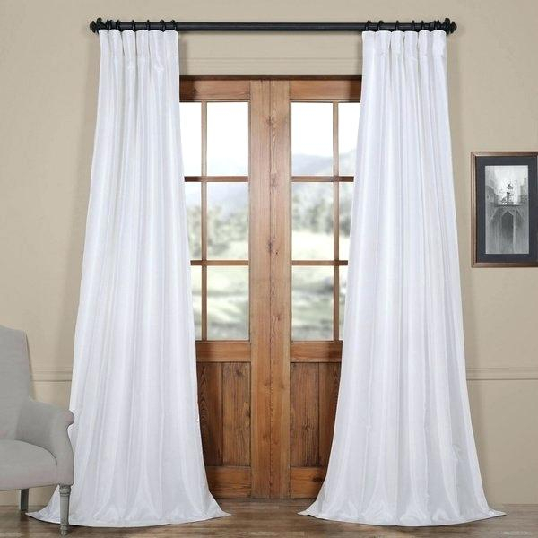 Faux Dupioni Silk Curtains – Martinez Ed With Regard To Storm Grey Vintage Faux Textured Dupioni Single Silk Curtain Panels (View 42 of 50)