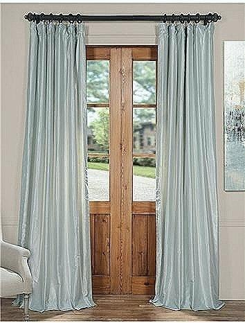 Faux Dupioni Silk Curtains Textured Faux Silk Curtain Panel For Storm Grey Vintage Faux Textured Dupioni Single Silk Curtain Panels (View 49 of 50)