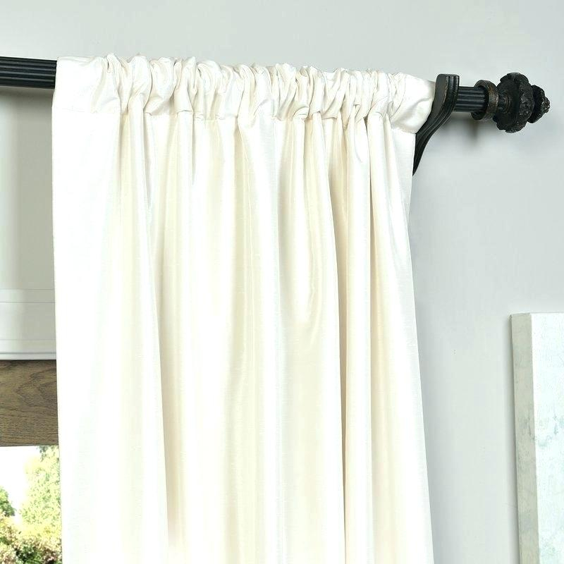Faux Dupioni Silk Curtains Vintage Textured Faux Silk In Silver Vintage Faux Textured Silk Curtain Panels (View 36 of 50)