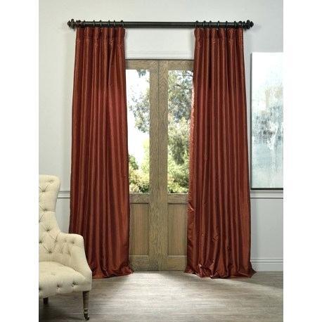 Faux Dupioni Silk Curtains – Vonosta (View 10 of 50)