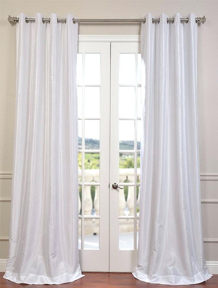 Faux Dupioni Silk Curtains – Vonosta (View 6 of 50)
