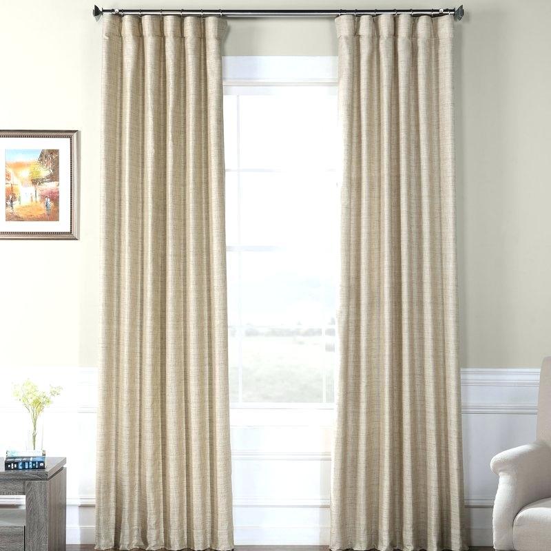 Faux Dupioni Silk Curtains – Vonosta (View 31 of 50)