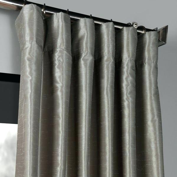 Faux Dupioni Silk Curtains – Whorde In Ice White Vintage Faux Textured Silk Curtain Panels (View 23 of 50)