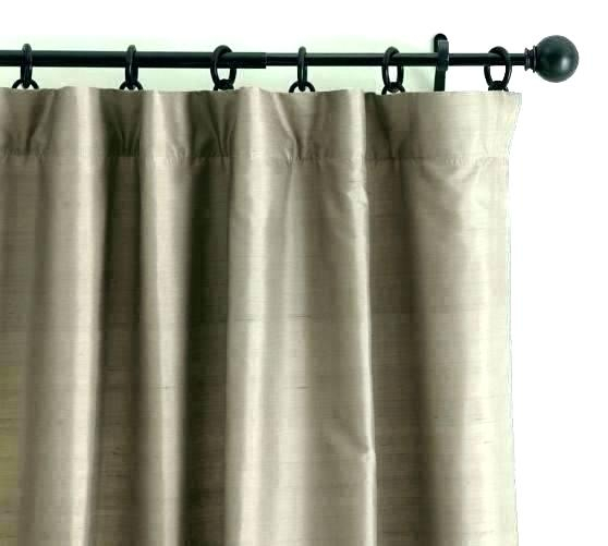 Faux Dupioni Silk Curtains – Whorde Inside Ice White Vintage Faux Textured Silk Curtain Panels (View 25 of 50)