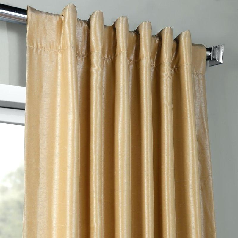 Faux Dupioni Silk Curtains – Whorde Inside Ice White Vintage Faux Textured Silk Curtain Panels (View 24 of 50)