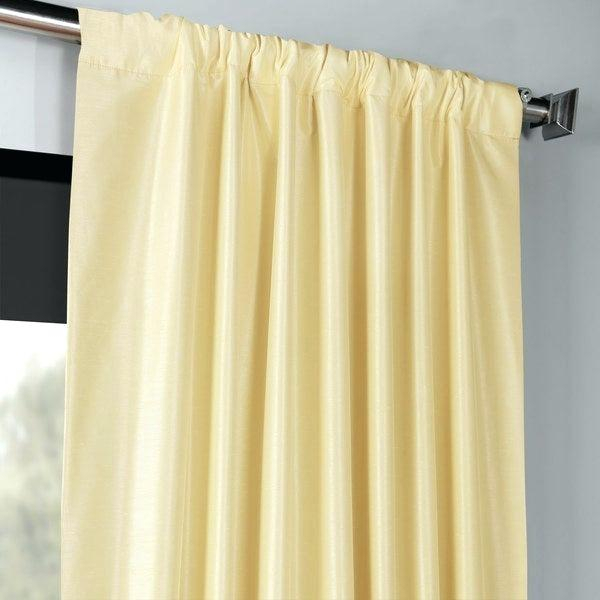 Faux Dupioni Silk Curtains – Whorde Within Faux Silk Extra Wide Blackout Single Curtain Panels (View 21 of 50)
