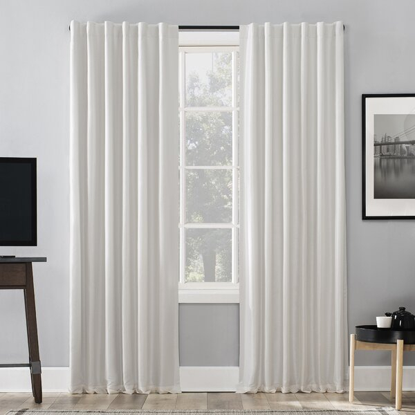 Faux Dupioni Silk Drapes | Wayfair In Ice White Vintage Faux Textured Silk Curtain Panels (View 26 of 50)