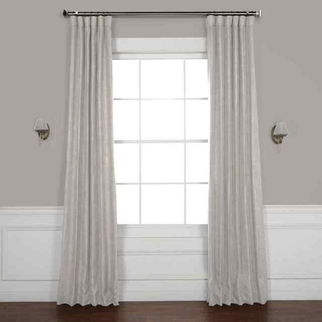 Faux Linen Blackout Curtains (Sold Per Panel) Within Faux Linen Blackout Curtains (#17 of 50)