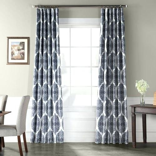 Faux Silk Blackout Curtains For Overseas Faux Silk Blackout Curtain Panel Pairs (#14 of 41)