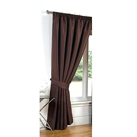 Faux Silk Blackout Curtains Luxury Chocolate X Taffeta Solid Regarding Faux Silk Extra Wide Blackout Single Curtain Panels (View 23 of 50)