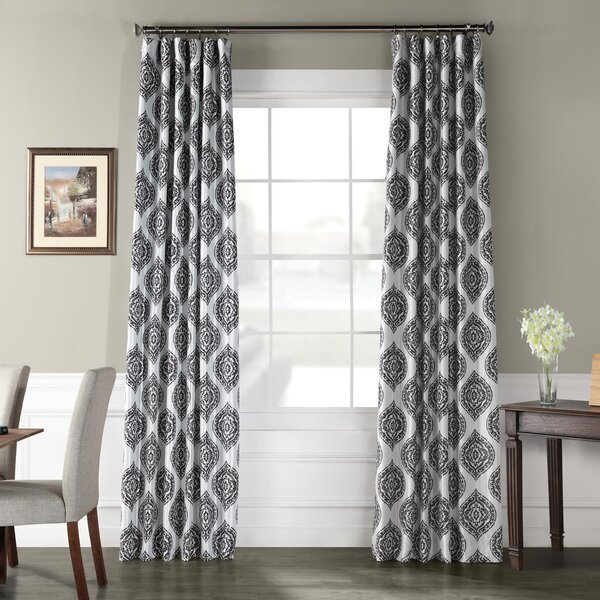 Faux Silk Blackout Curtains | Wayfair Intended For Overseas Faux Silk Blackout Curtain Panel Pairs (#17 of 41)