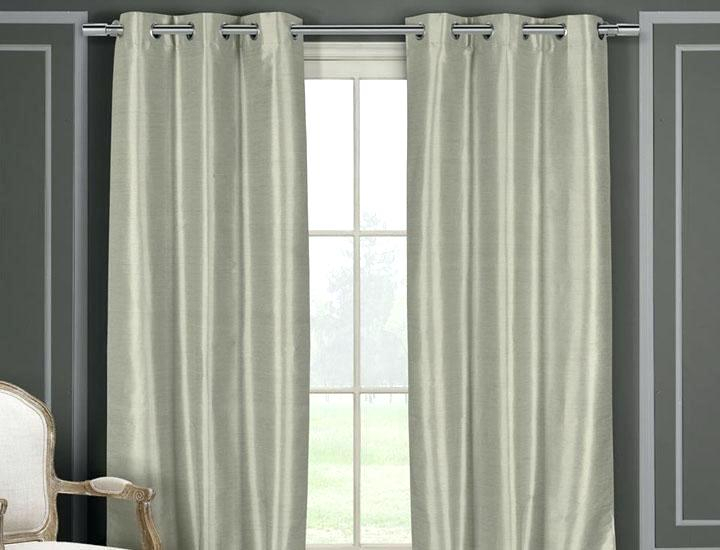 Faux Silk Blackout Curtains Within Faux Silk Extra Wide Blackout Single Curtain Panels (View 24 of 50)