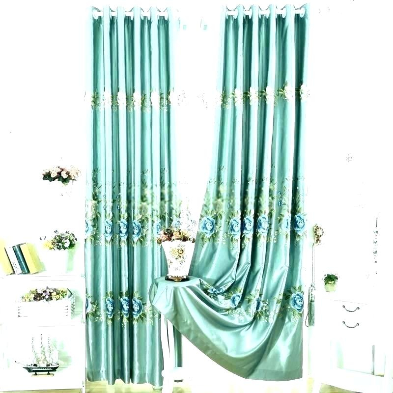 Faux Silk Blue Curtains – Christinaarza (View 45 of 50)
