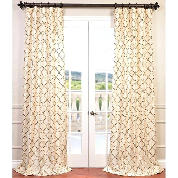 Faux Silk Curtain Panels – Acetylic Regarding Ofloral Embroidered Faux Silk Window Curtain Panels (View 46 of 50)