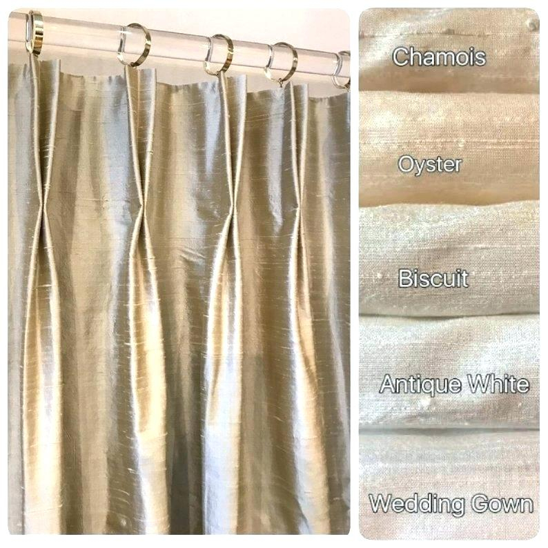 Faux Silk Drapes Pleated Curtains Image 0 Pinch Pleat Cheap With Regard To Silver Vintage Faux Textured Silk Curtain Panels (View 47 of 50)