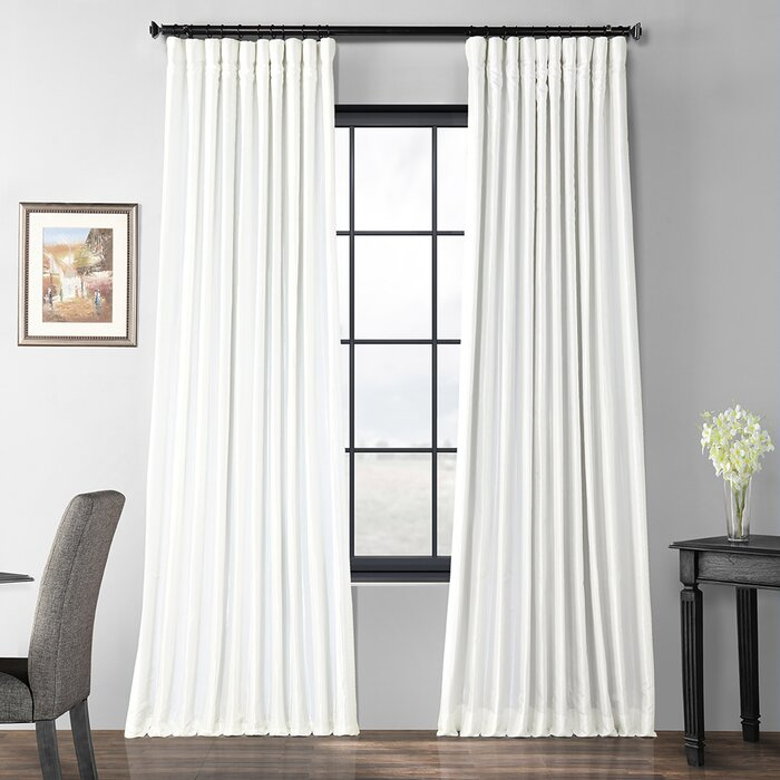 Faux Silk Extra Wide Taffeta Blackout Single Curtain Panel Pertaining To Faux Silk Extra Wide Blackout Single Curtain Panels (View 29 of 50)