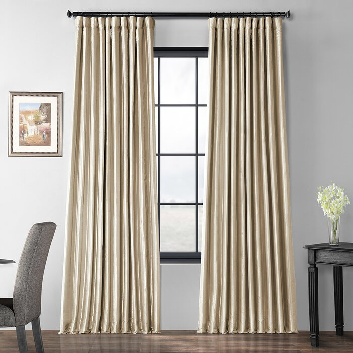 Popular Photo of Faux Silk Extra Wide Blackout Single Curtain Panels