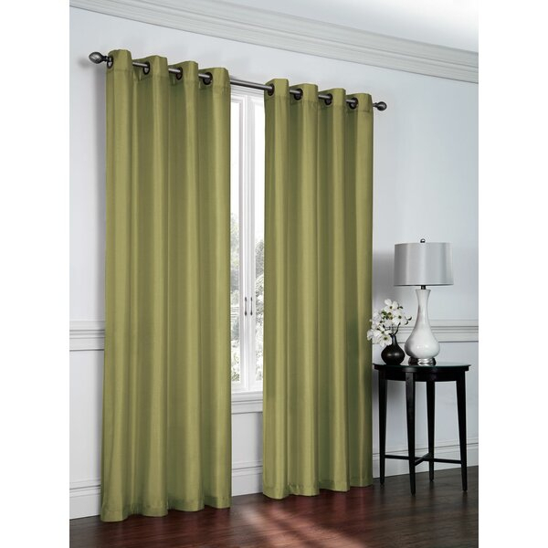 Faux Silk Grommet Curtains | Wayfair (#23 of 46)