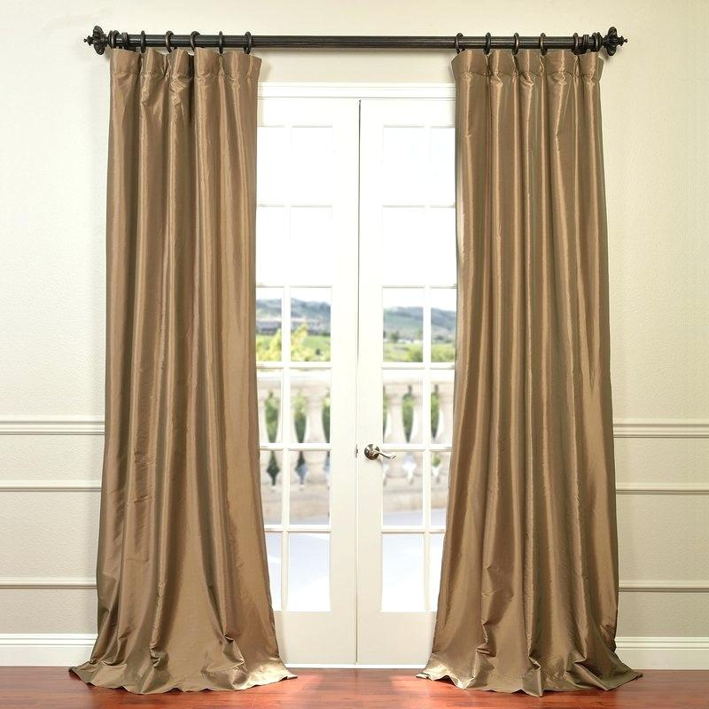 Faux Silk Taffeta Curtains – Garettgroves Intended For Faux Silk Extra Wide Blackout Single Curtain Panels (View 34 of 50)